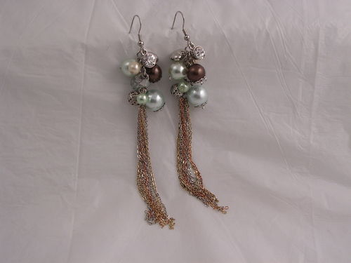 Baubles with Chain Tassles Earring